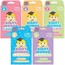 Pint-Size Scholars The Ready Readers Bundle: 500 Sight Words in 5 Packs of Flashcards from Pre K to Third Grade
