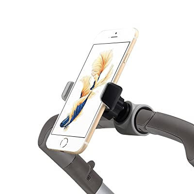 Emmzoe Smartphone Handlebar Mount for Stroller Buggy Pram, Shopping Carts, Bikes - Fits iPhone Xs, XS Max, X, 8 8 Plus, 7 7 Plus, Galaxy S9 Note9 and More: Baby