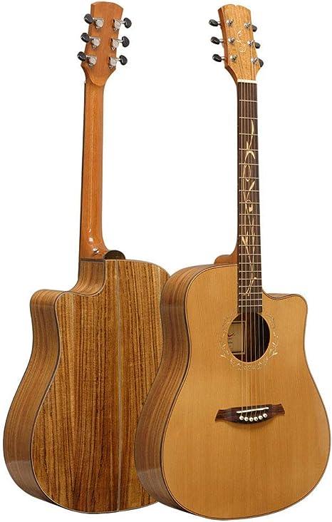 Nueva 41 Pulgadas De Chapa De Pino Rojo De Gama Alta Guitarra ...