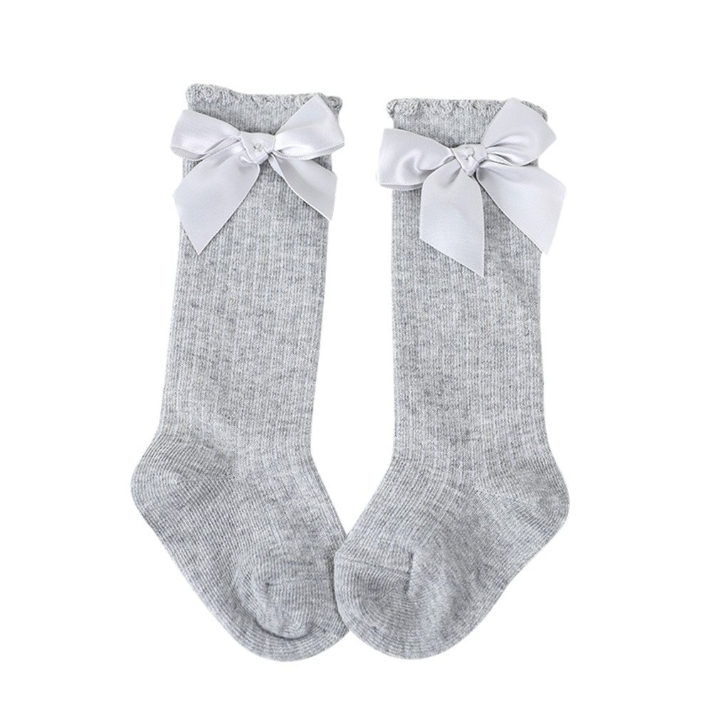 Toddlers Girls Big Bow Knee High Long Soft Cotton Lace Socks for Baby Kids Wffo New Kids Socks