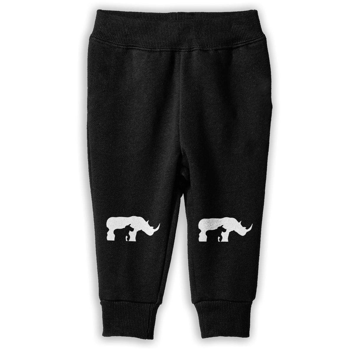 Kids Training Pants NJKM5MJ Black and White Rhino-1 Sweatpants