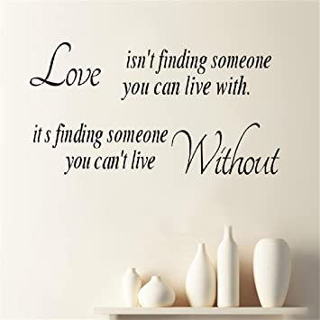 Amazoncom Fridoe Wall Sticker Inspirational Quotes Love Isnt