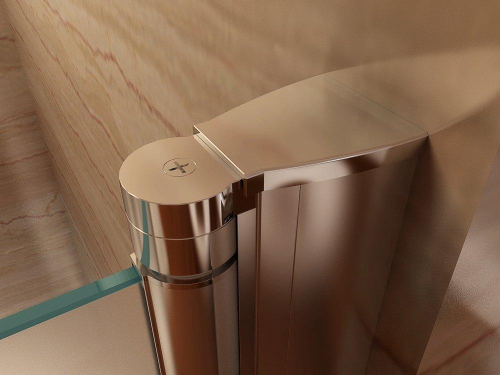 Satinierte Duschabtrennung Verstellbereich von 76-80cm Höhe: 195 cm i-flair 78cm Duschtür mit 6mm nanobeschichtetem Sicherheitsglas Höhe: 195 cm