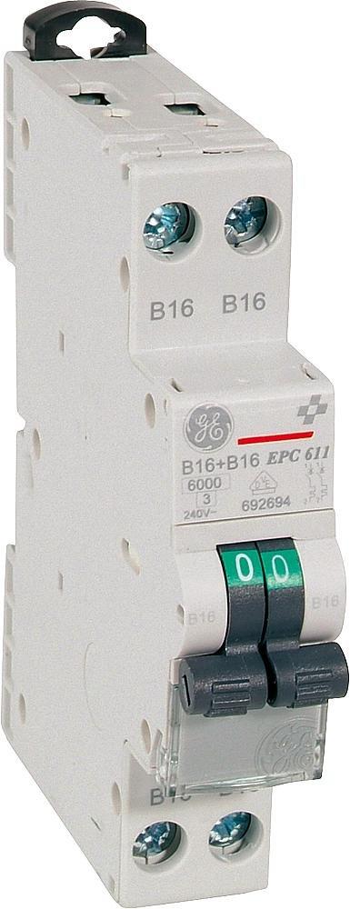 20A GE Leitungsschutzschalter 1-polig B-Charakteristik GE 230//400V 566.505 EP 61 B 20