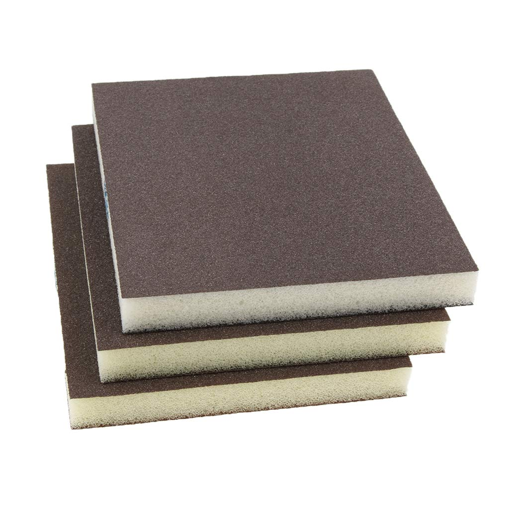 Curved and Contoured Surfaces 5 Pcs Coarse//Medium Grit Sanding Sponge Grey Small Area Polishing 80 Grit for Sanding Flat