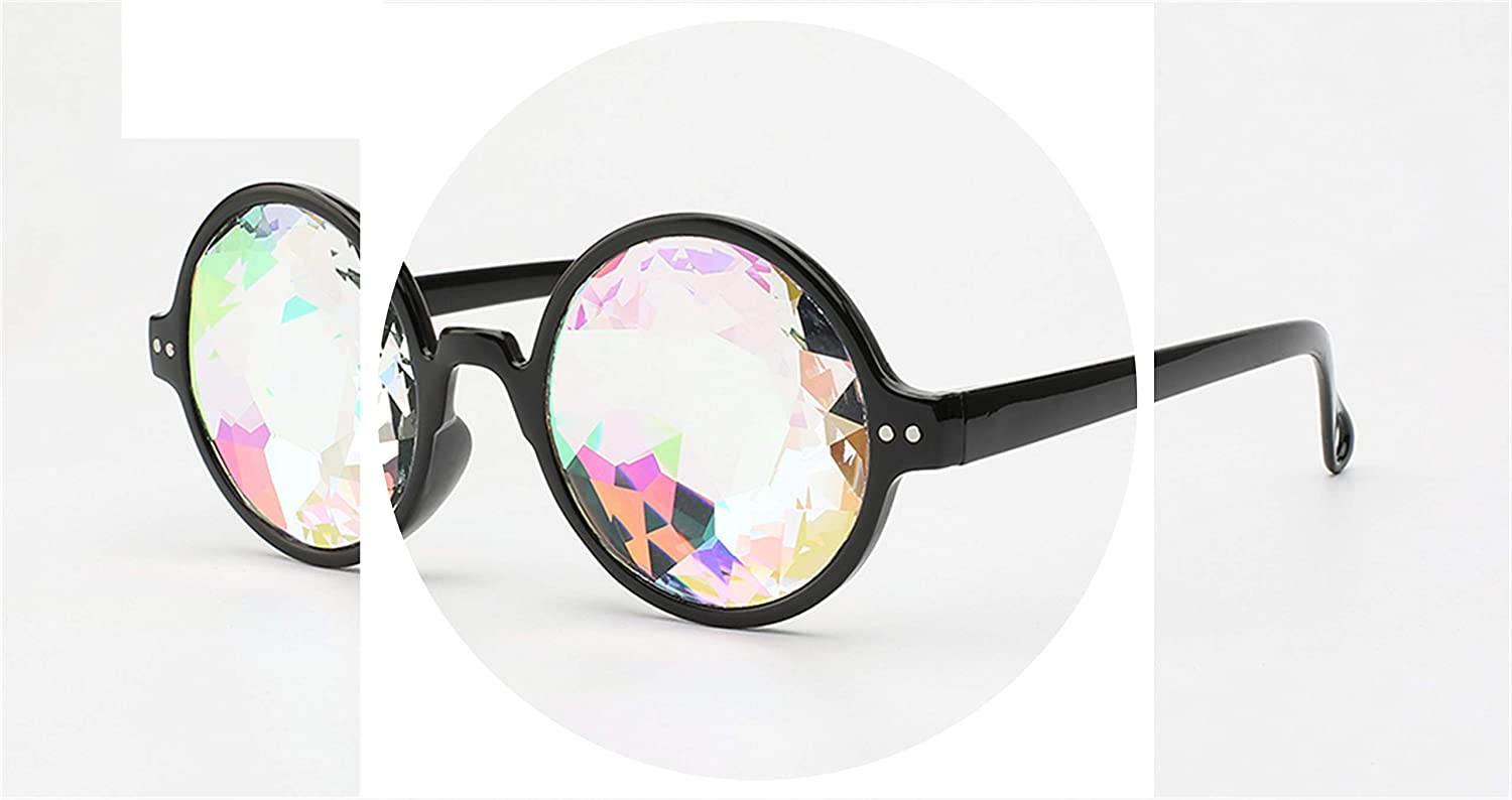 2d9ea40ca Amazon.com: New Kaleidoscope Women Sunglasses Model Catwalk Show Glasses Men  Dazzle Artificial Diamond Lens Ste: Clothing