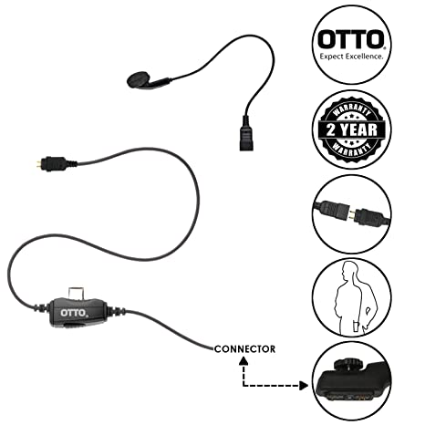 Amazon Com Otto Loc 1 Wire Surveillance Earbud Earpiece For Hytera