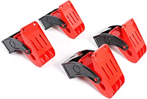 SGCB Pro Heavy Duty Mat Clamps 2.8 Inch, Plastic Hard Chemical Resistant Car Wash Floor Mat Clamps, Large Swivel Clamp Anti-Slip Spring Clamps Hang Your Carpet Mats, Clamp Clips 4 Pack