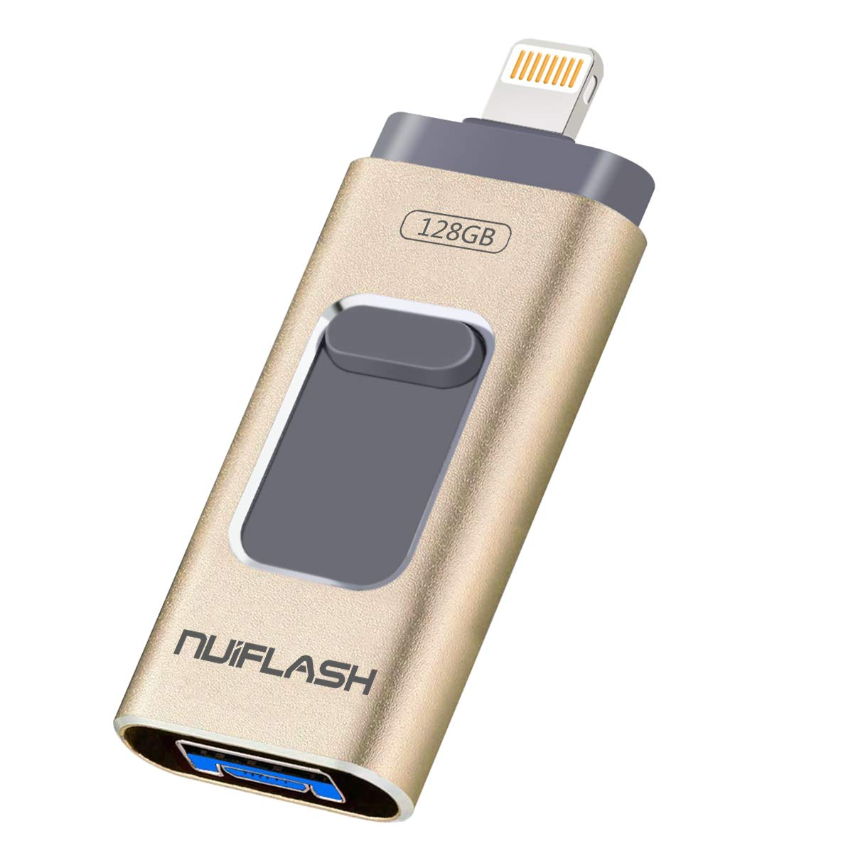 256GB, Gold Thumb Drive Compatible with iPhone//iPad//iOS//Android//Mac//PC USB Flash Drive 256GB for iPhone Memory Stick USB 3.0 Photo Stick for iOS Flash Drive External Storage 3in1