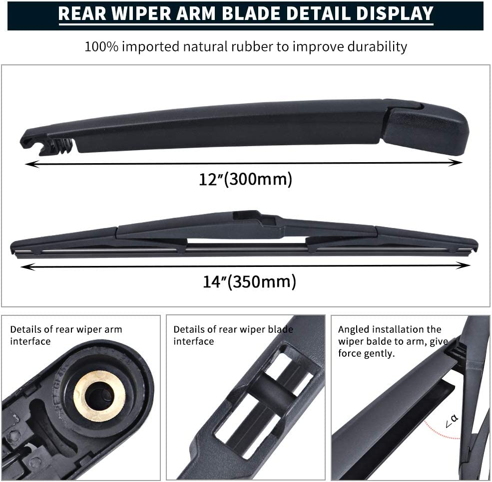 Windshield Wiper Blades MIKKUPPA Front Original Equipment Replacement Wiper All Season Natural Rubber Cleaning Window 26+17 for 2007-2015 Mazda CX-9 Pack of 2
