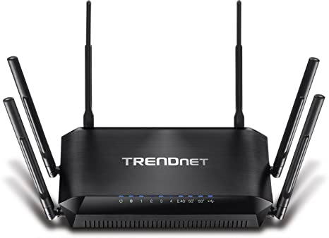 TRENDnet AC3200 Gigabit Tri-Band Wi-Fi Router, DD-WRT Compatible, Tri-Band,  Smart Connect, 1GHz dual core processor, VPN, TEW-828DRU