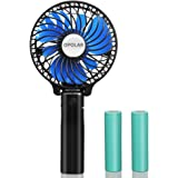 OPOLAR Portable Battery Operated Fan with Two 2200mAh Batteries, Personal Handheld Fan with Folding Design, Compact and Mini Size for Travel & Camping, Strong Wind with 3 Settings