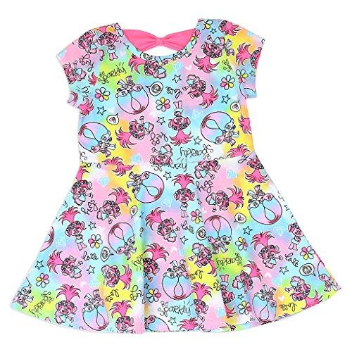 Trolls Little Girls' Poppy Allover Print Knit Dress (5) ()