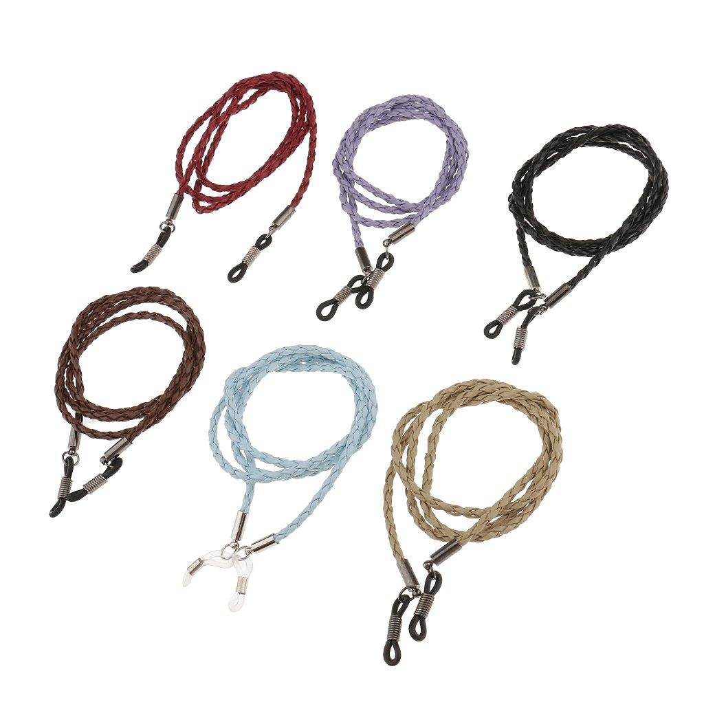 Gazechimp 6 Stück unterschiedliche Farben Sonnenbrille Halskette Lesebrille Sportbrille Brillenkette Brillenbänder