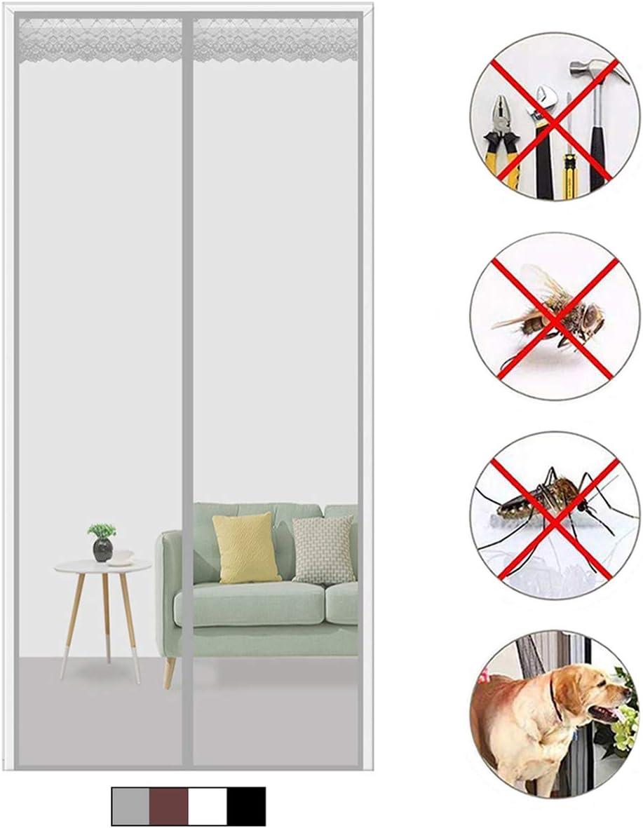 Gris 80x230cm mosquitera Ventana Magn/ética Autom/ático con Durable para Puertas Correderas//Balcones//Terraza Mosquitera Puerta Magnetica