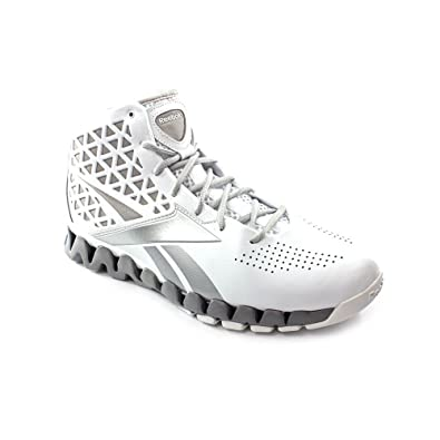 278d7b3e4341 Reebok Mens Basketball Shoes ZIGTECH ZIG SLASH White Silver SZ 9