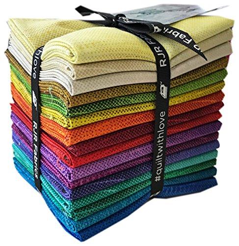 Fabric Jinny Quilt Beyer (RJR Amber Waves Fat Quarter Bundle 16 Precut Cotton Fabric Quilting FQs Assortment Jinny Beyer 9652-463)