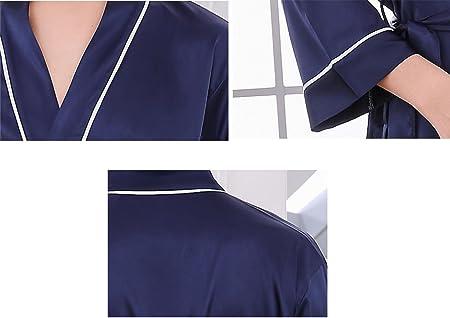 Pijama de baño de Seda para Hombre/Ropa de casa de Manga Larga ...