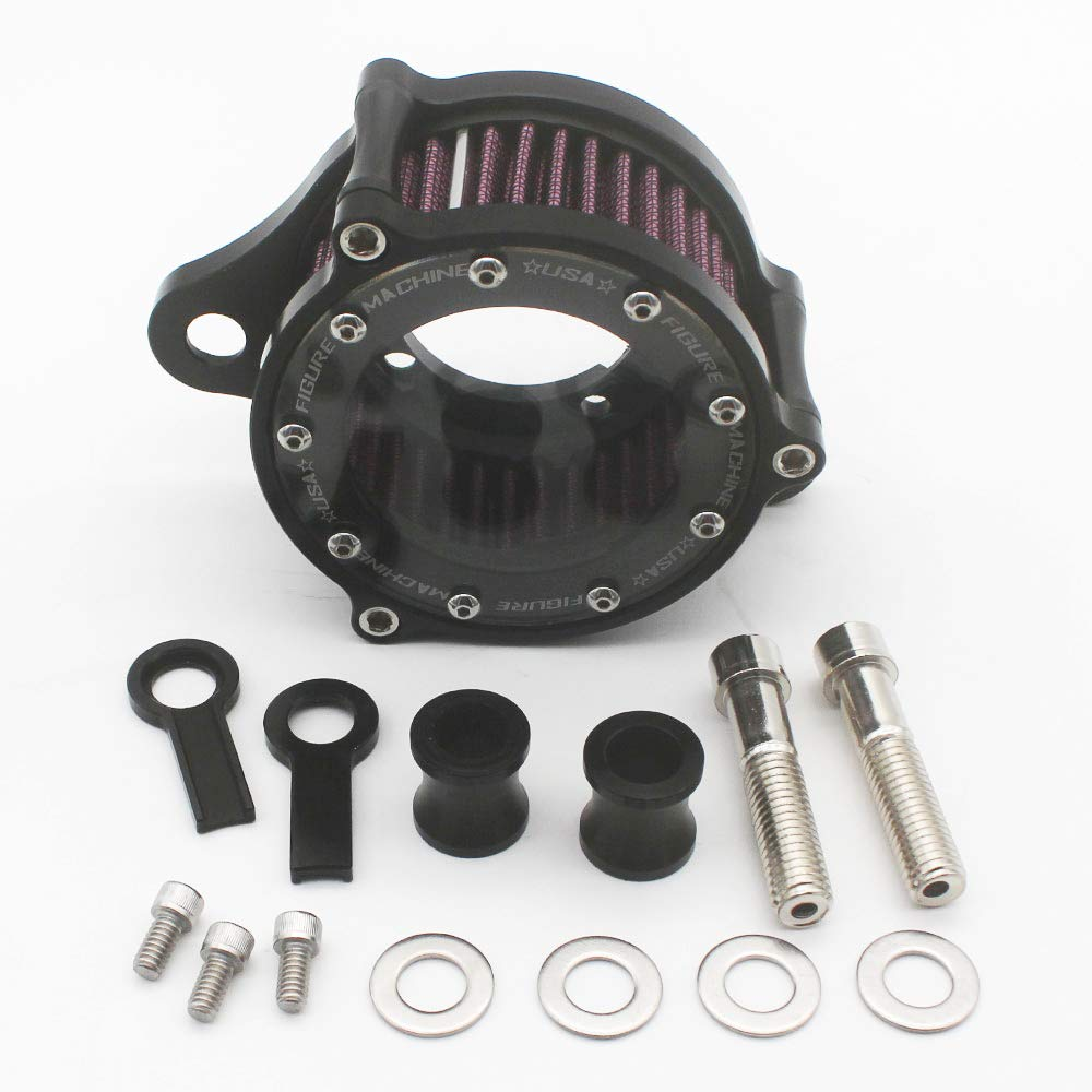 KIPA Air Cleaner Intake Filter System Kit For Harley Davidson Sportster XL883 XL883N XL883R XL883P XL1200 XL1200L XL1200X Iron 883 Forty Eight XL1200X 2004-2016 Billet Aluminum CNC Machined Washable by KIPA (Image #9)