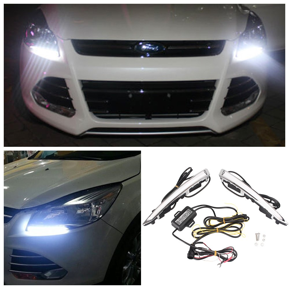 GZYF Brightness LED Daytime Running Light Fog Lamp DRL 20136
