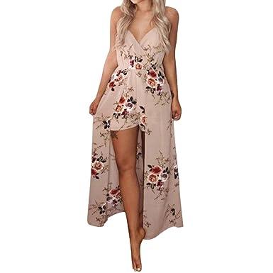 831a30f4e7a Amazon.com  CieKen Women Sleeveless Jumpsuit