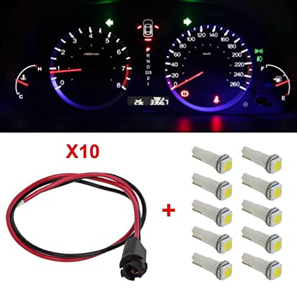 amazon com partsam 10xt5 white smd led 73 hole extension connector Wire Harness Equipment at Odometer Wire Harness On Vehicle