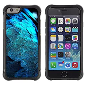 SHIMIN CAO@ Feathers Blue Light Angel Wings Spiritual Bird Rugged Hybrid Armor Slim Protection Case Cover Shell For iphone 6 6S CASE Cover ,iphone 6 4.7 case,iphone 6 cover ,Cases for iphone 6S 4.7
