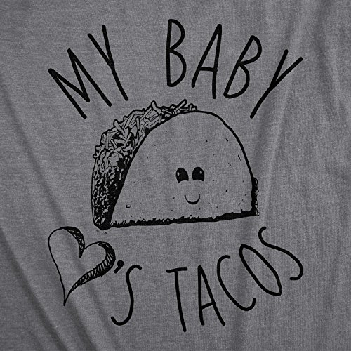 Maternity My Baby Loves Tacos Funny T Shirts Cute Announce Pregnancy Im Pregnant Bump T Shirt (Heather Purple) -L by Crazy Dog T-Shirts (Image #1)'