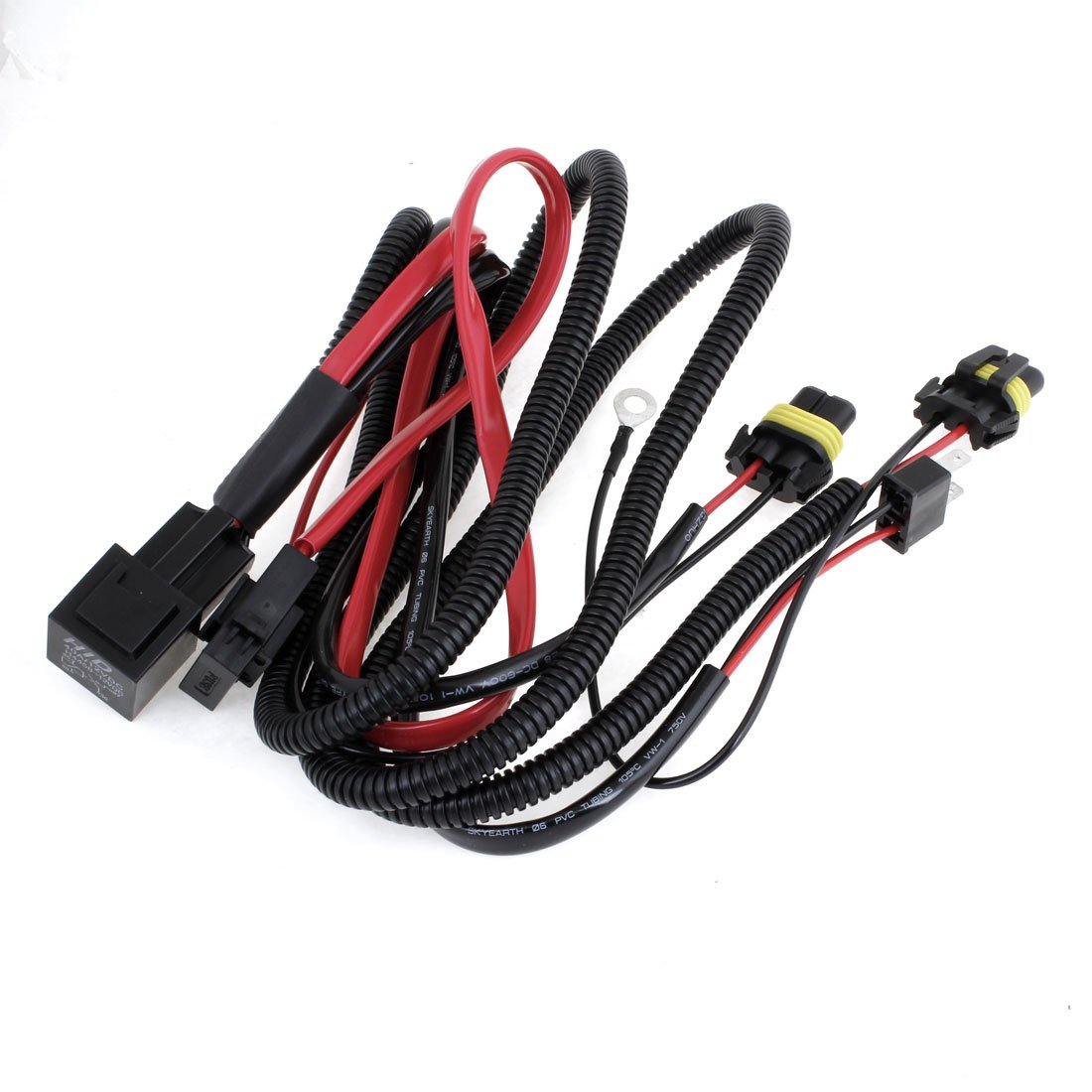 Sourcingmap Xenon Hid Conversion Kit Relay Wiring Harness Cord Upgrade Pack For H7 Car Motorbike