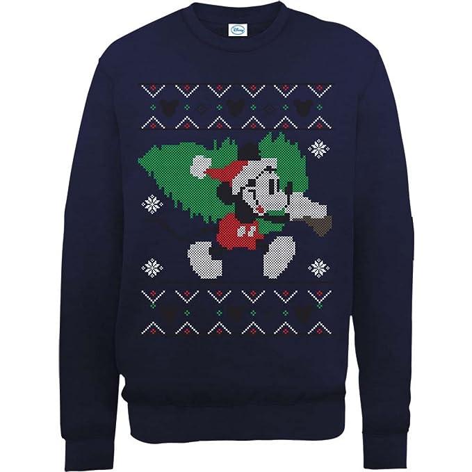 Brands In Limited Mickey Mouse Christmas Tree-Sudadera Hombre: Amazon.es: Ropa y accesorios