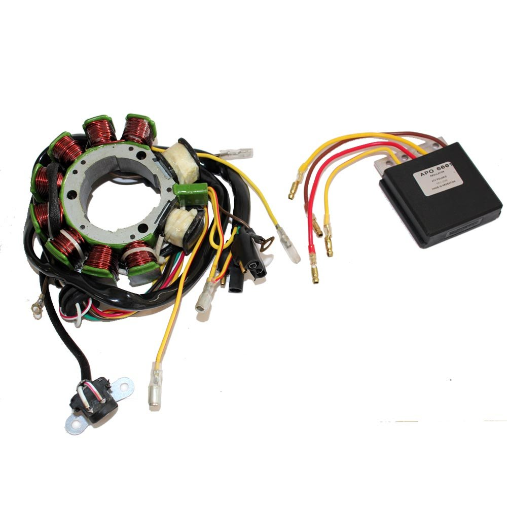 Caltric Stator Regulator Rectifier Fits Polaris Sportsman Xplorer 500 Starting System Wiring And Circuit 1998 1999 2000 2001 Up To S00 29083 Automotive