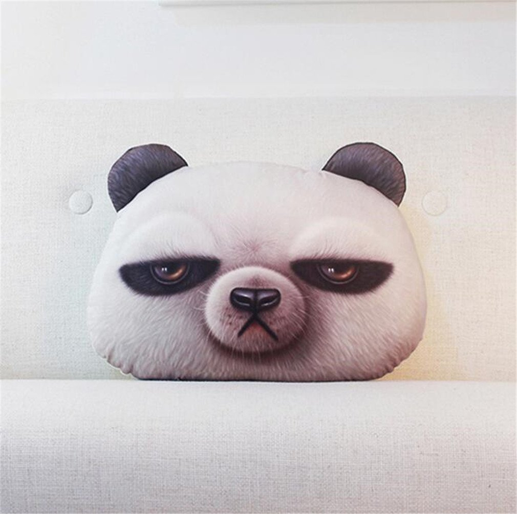 NUO-Z Short Plush Cushion - Bedside Nap Sleep Lumbar Pillow 3D Cushion -Creative Personality Gift Cartoon Plush Toys - Christmas Gift, Family, Hotel, Decoration, Chair, Bed,Car,White