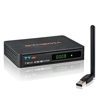 GTMEDIA TT Pro DVB-T/T2 DVB-C Decodificador TDT Terrestre Receptor de Cable TV Digital con Antenna Wifi, 1080P Full HD MPEG-2/4 H.265 HEVC AVS+ FTA, ...