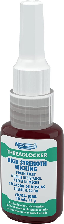 MG Chemicals High Strength Wicking Permanent Threadlocker Adhesive, 10 ml Bottle 8704-10ML