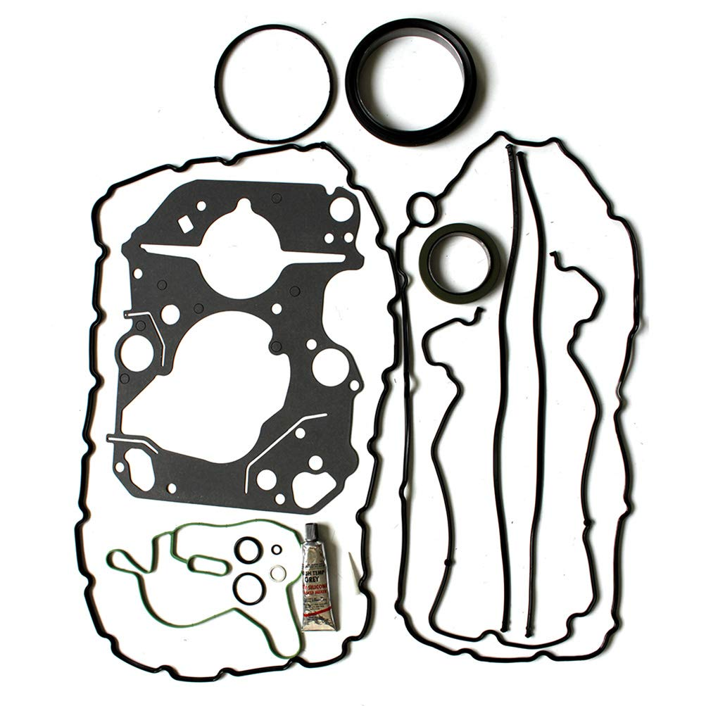 AUTOMUTO Engine lower conversion gasket sets compatible with 2008-2010 Ford F-550 Super Duty 6.4 L