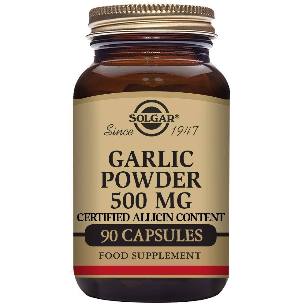 Solgar Garlic Powder Vegetable Capsules, 500 mg, 90 Count by Solgar (Image #1)