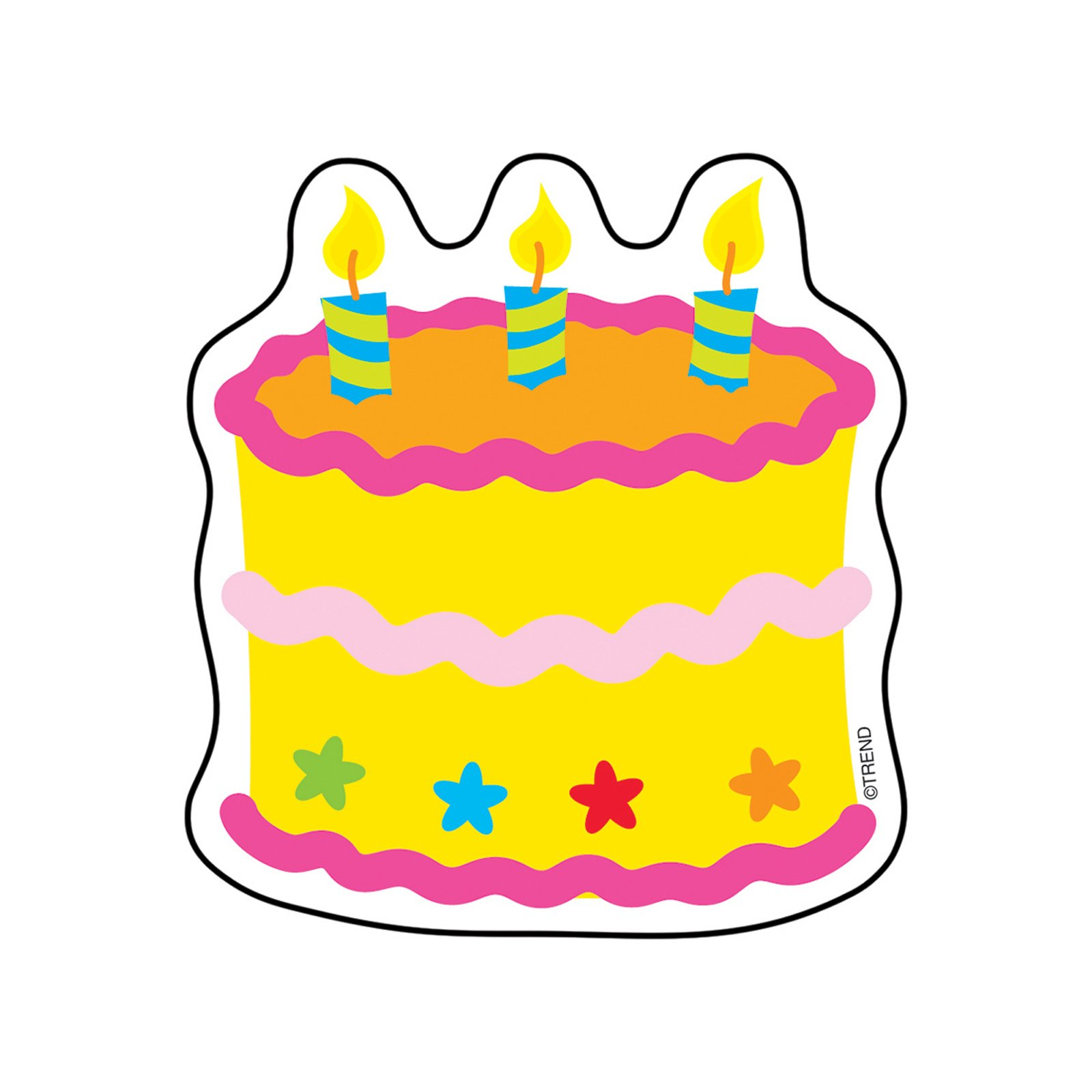 TREND enterprises, Inc. T-10505BN Birthday Cake Mini Accents, 36 Per Pack, 12 Packs by TREND Enterprises