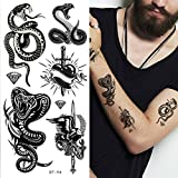 Supperb Mix Tribal Temporary Tattoos Tribal Snake II (Set of 2)