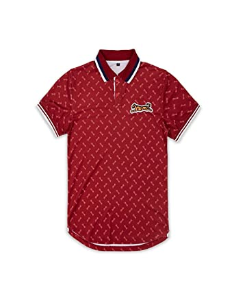 4e0902f82 Le TIGRE Men's All Over Print Logo Polo Shirt at Amazon Men's ...