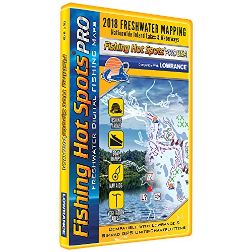 Fishing Hot Spots PRO FW - 2018 Digital Map & Fishing Chip f/Lowrance & Simrad Units - ()