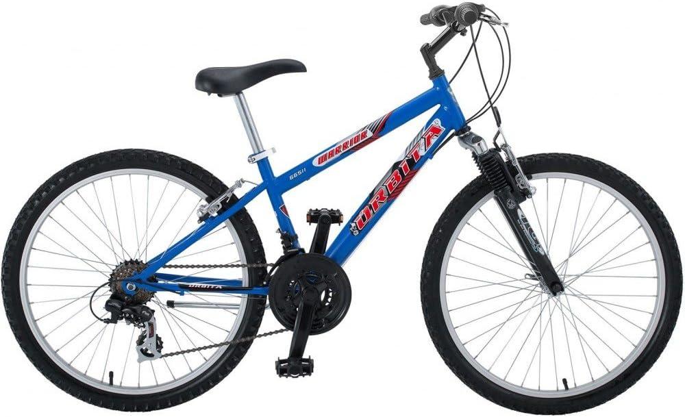 Bicicleta MTB Junior Acero Orbita Warrior H24 18v: Amazon.es ...