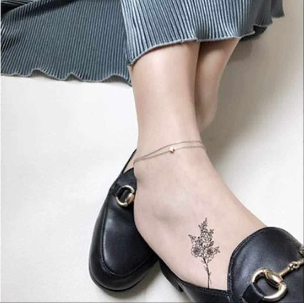 Tatuaje temporal a prueba de agua HBDG camelia flores rosas ...