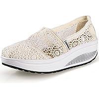 Hishoes Zapatos de Mujer Sandalias de Verano Mocasines de Moda Zapatillas de Plataforma Casuales Zapatillas de