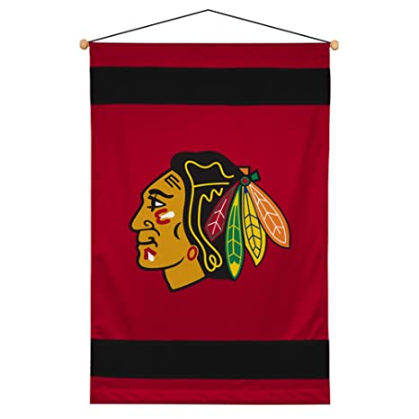 Amazon.com   NHL Chicago Blackhawks Hockey Sidelines Wall Hanging   Sports  Fan Merchandise   Sports   Outdoors 19fe7ab73