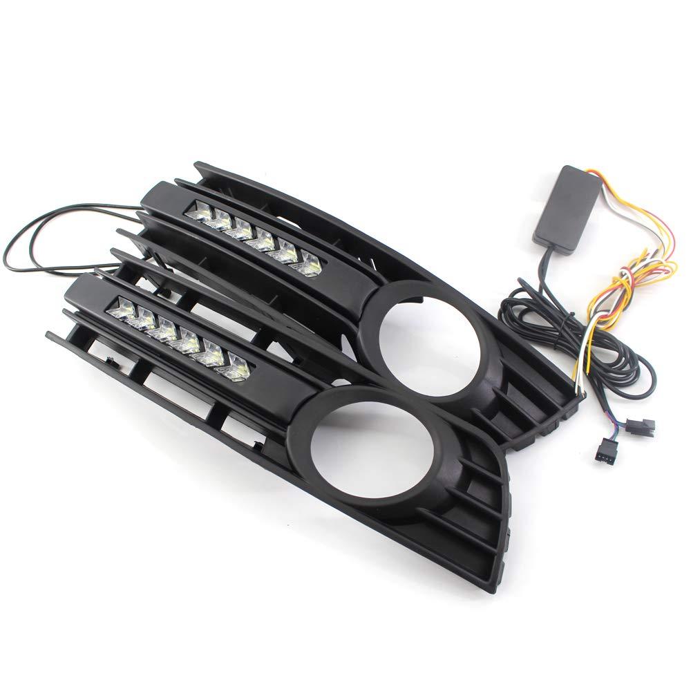 Color Negro Mate Parachoques Delantero Delantero para Audi A4 B6 01-05 KKmoon
