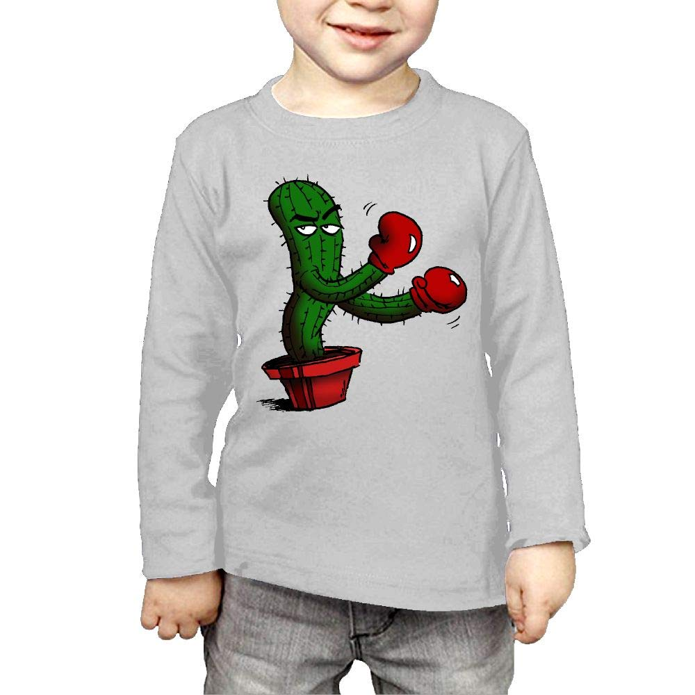 Fryhyu8 Baby Boys Childrens Boxing Cactus Printed Long Sleeve 100/% Cotton Infants Tee Shirt