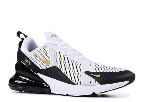 Nike Men's Air Max 270 WhiteBlackGold AV7892 100 (Size: 8)