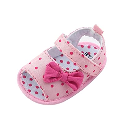 Digood Toddler Baby Kids Girls Boys Dot Bowknot Prewalker Soft Sole Anti-Slip Sandals Crib Shoes: Shoes