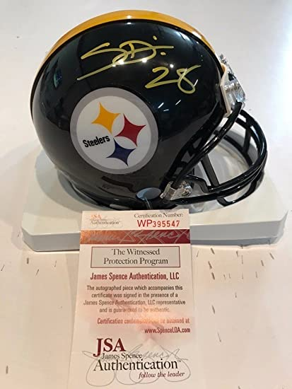 277d40a84b8 Sean Davis Autographed Signed Pittsburgh Steelers Mini Helmet - JSA  Authentication