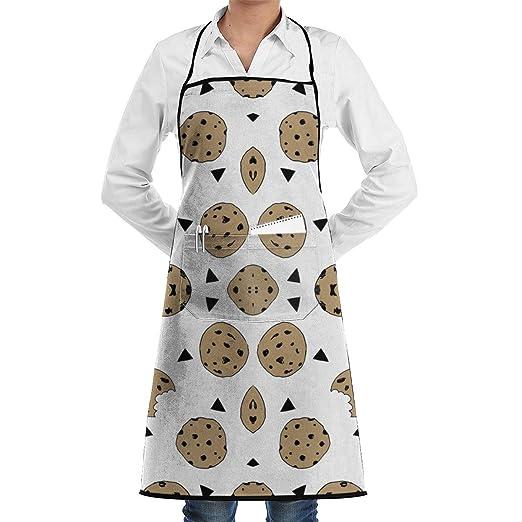 Cookies Food Delantal de cocina de cocina ajustable con bolsillo y ...